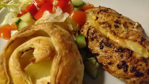 Potatisrosor och kyckling