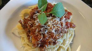 Helt vanlig köttfärssås och spaghetti