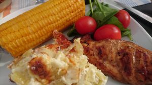 Marinerad kyckling på grillen