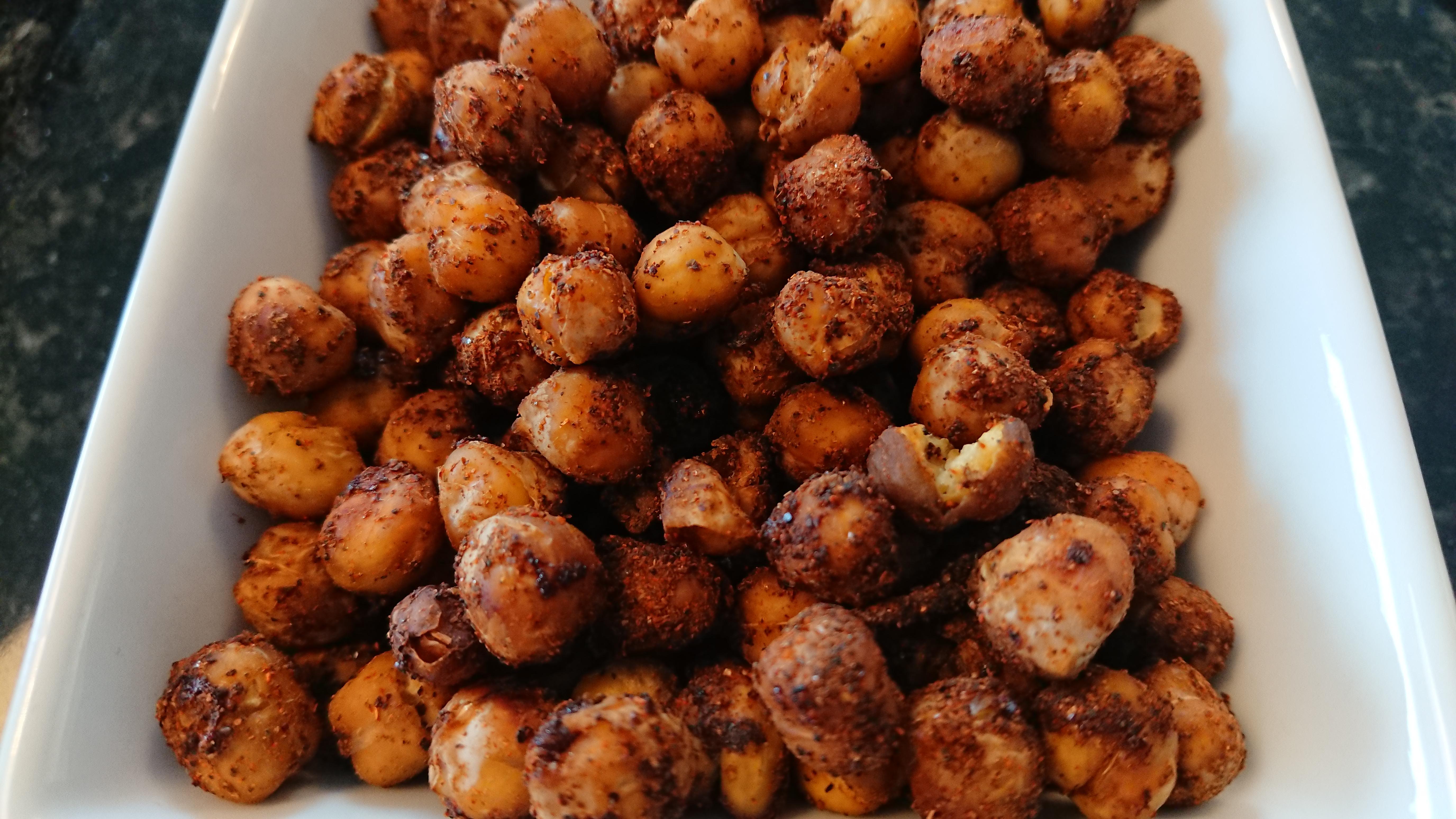 Ugnsrostade kryddiga kikärtor