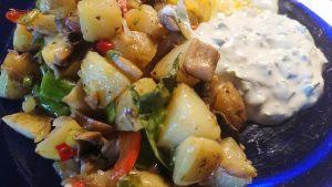 Potatis- och grönsakspytt