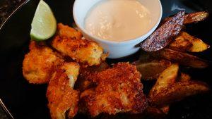 Senaps- och ostkrokspanerad kyckling